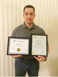Weld Excellence Award - Miguel Gutierrez - Welding Inspector