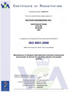 ISO 9001:2008 Certifications