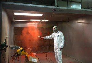 powder coat spray booth